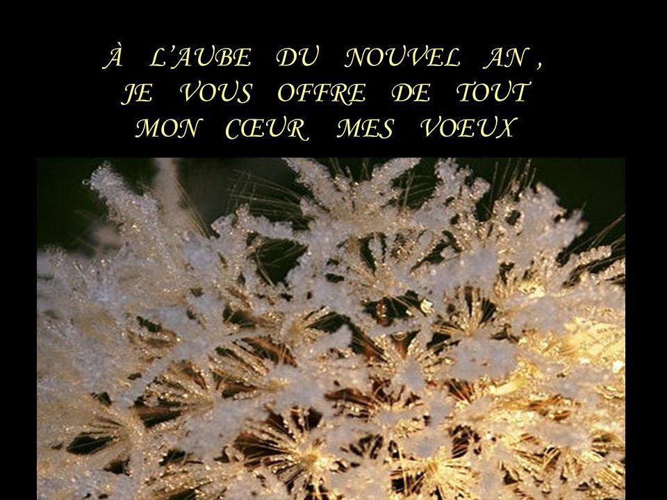 À L'AUBE DU NOUVEL AN , JE VOUS OFFRE DE TOUT MON CŒUR MES VOEUX