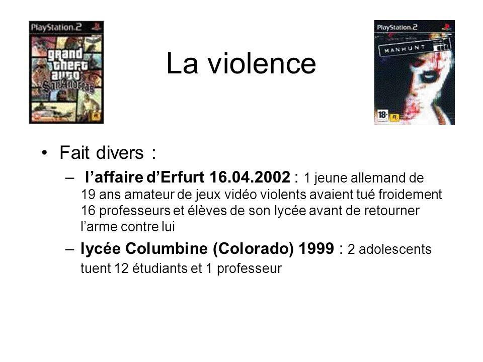 La violence Fait divers :