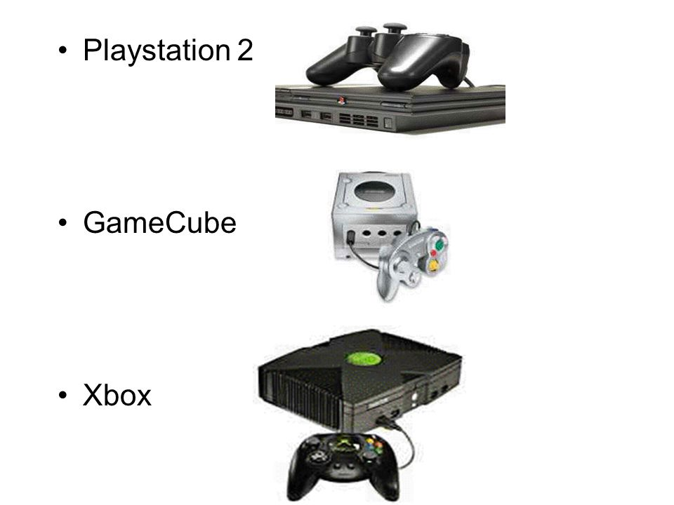 Playstation 2 GameCube Xbox