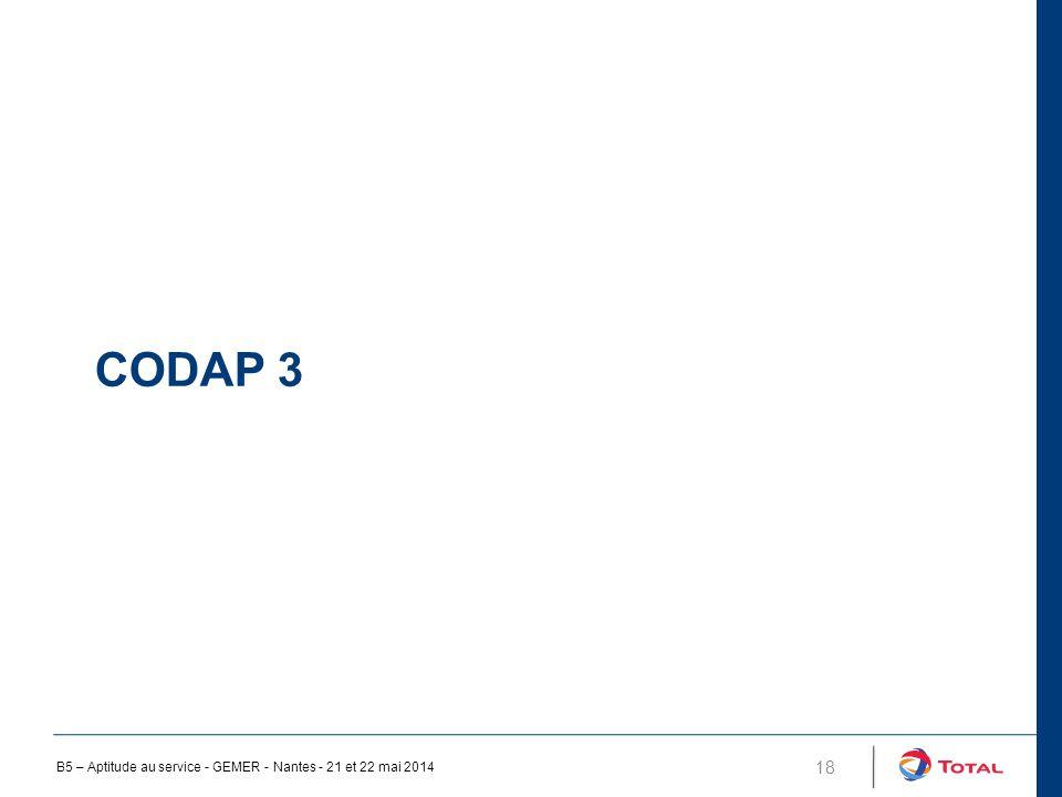 CODAP 3 B5 – Aptitude au service - GEMER - Nantes - 21 et 22 mai 2014
