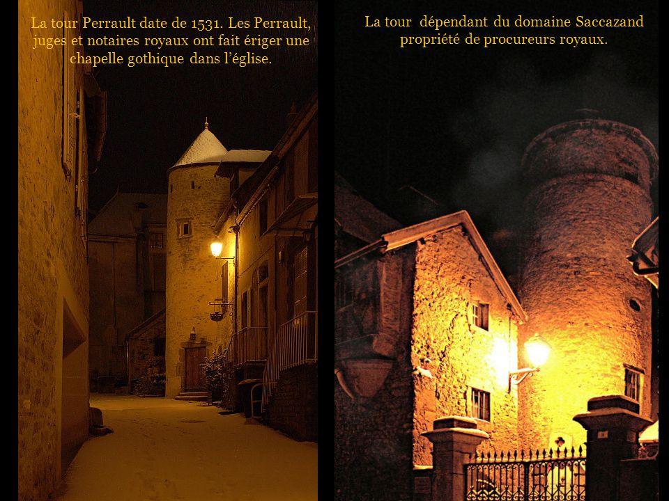 La tour dépendant du domaine Saccazand propriété de procureurs royaux.