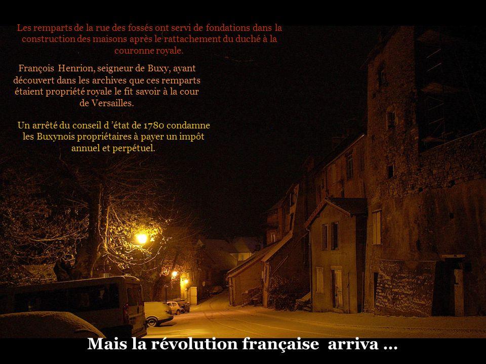 Mais la révolution française arriva …