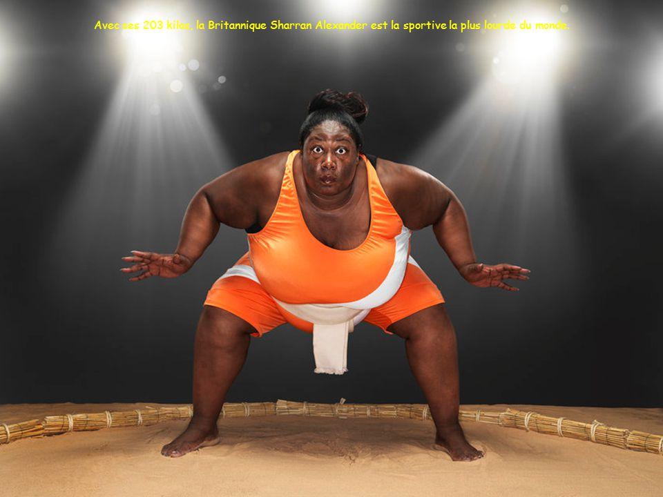 Avec ses 203 kilos, la Britannique Sharran Alexander est la sportive la plus lourde du monde.