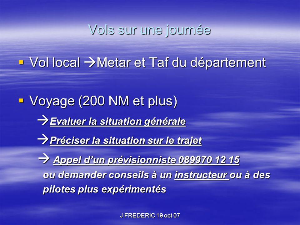 Vol local Metar et Taf du département Voyage (200 NM et plus)