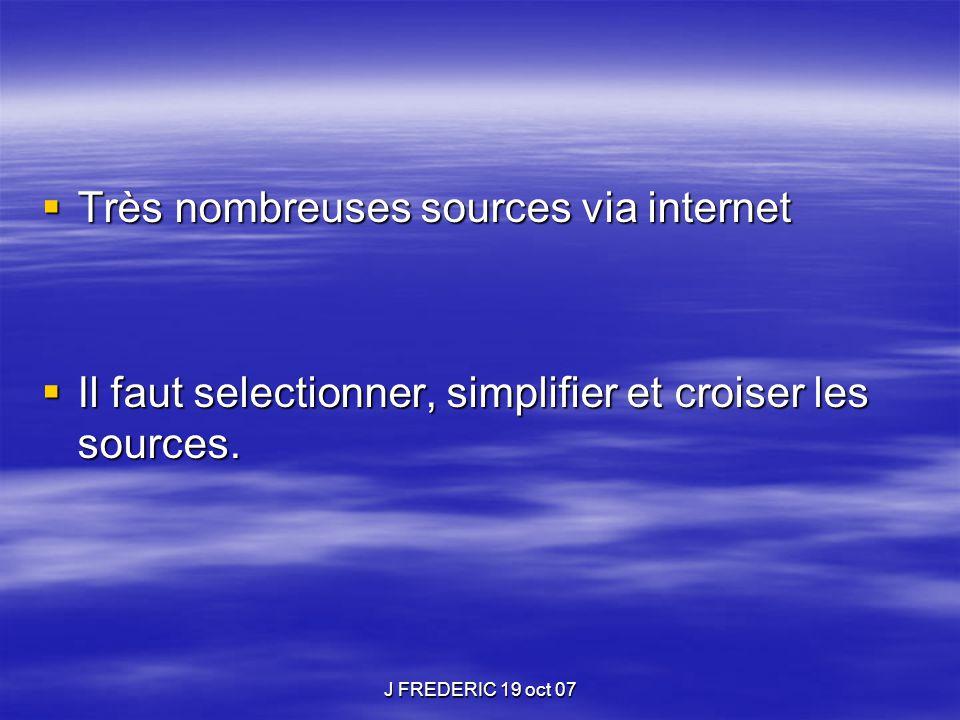 Très nombreuses sources via internet