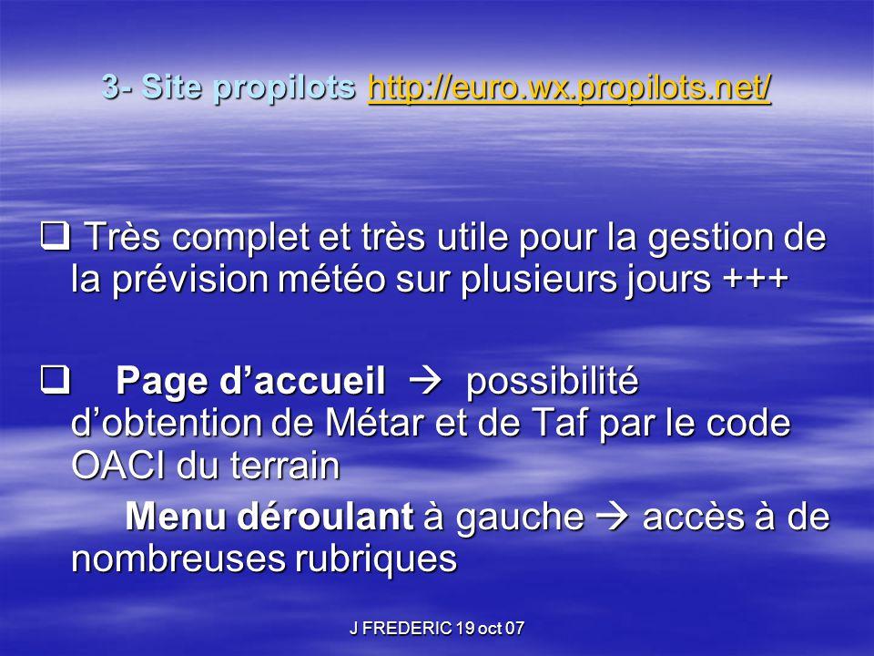 3- Site propilots http://euro.wx.propilots.net/