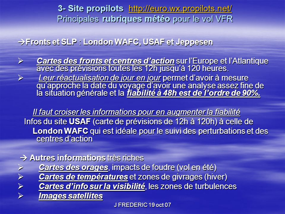 3- Site propilots http://euro. wx. propilots