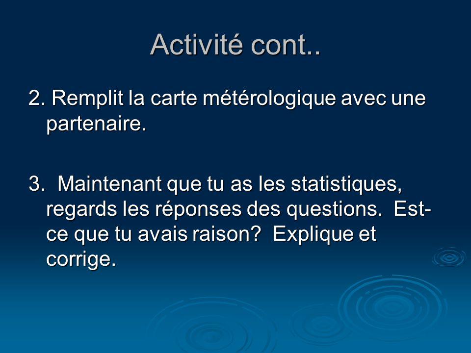 Activité cont..