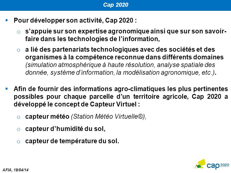 Pour développer son activité, Cap 2020 :
