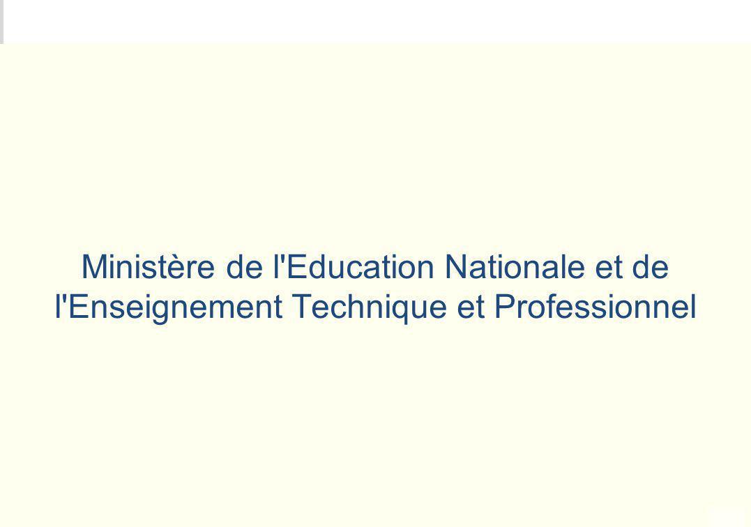 Ministère de l Education Nationale et de l Enseignement Technique et Professionnel