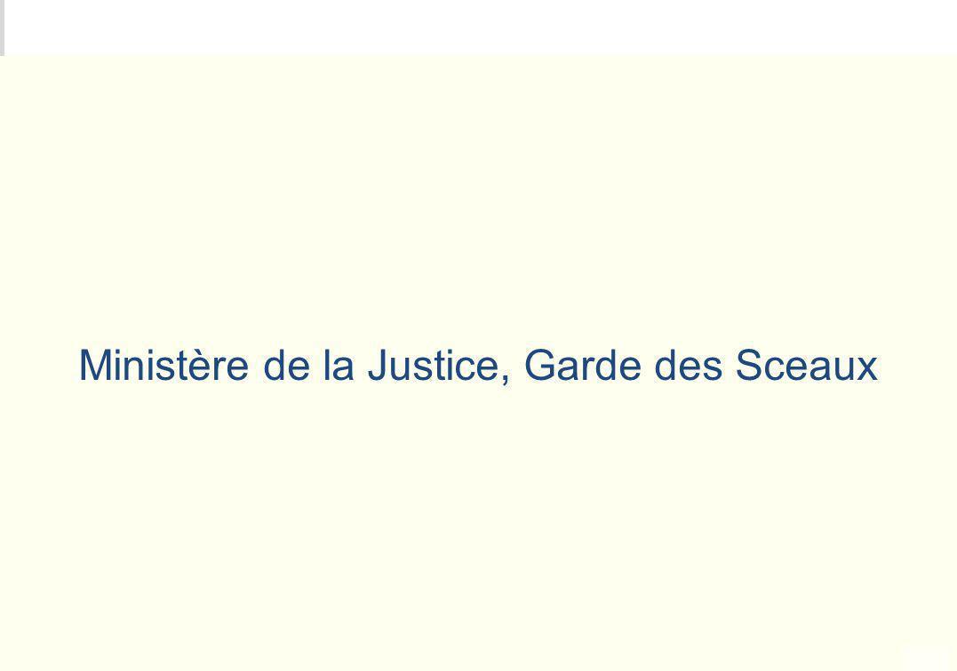 Ministère de la Justice, Garde des Sceaux