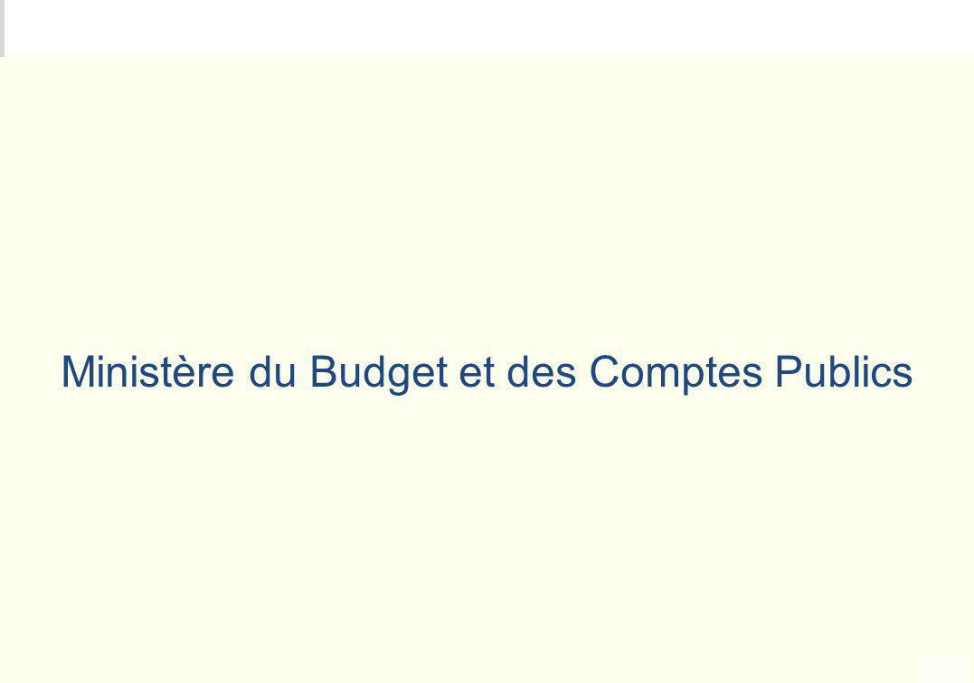 Ministère du Budget et des Comptes Publics