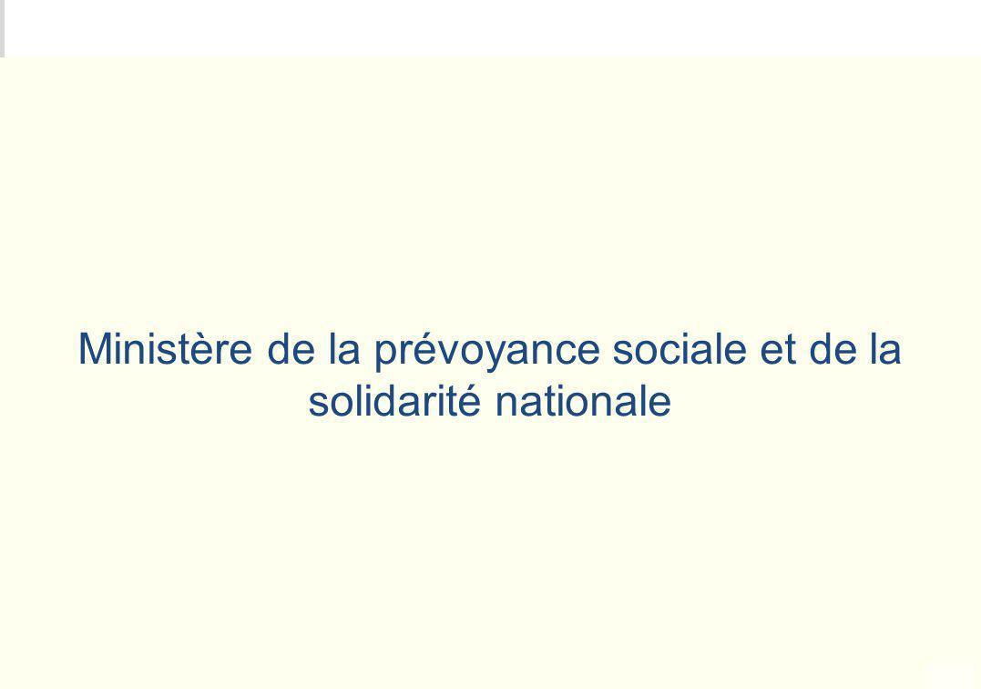 Ministère de la prévoyance sociale et de la solidarité nationale