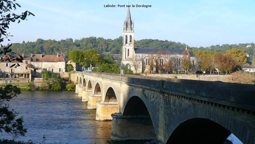 Lalinde: Pont sur la Dordogne