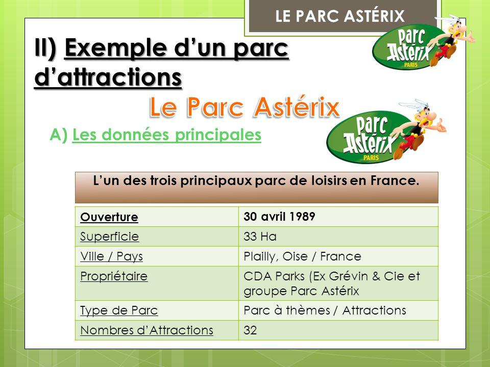 L'un des trois principaux parc de loisirs en France.