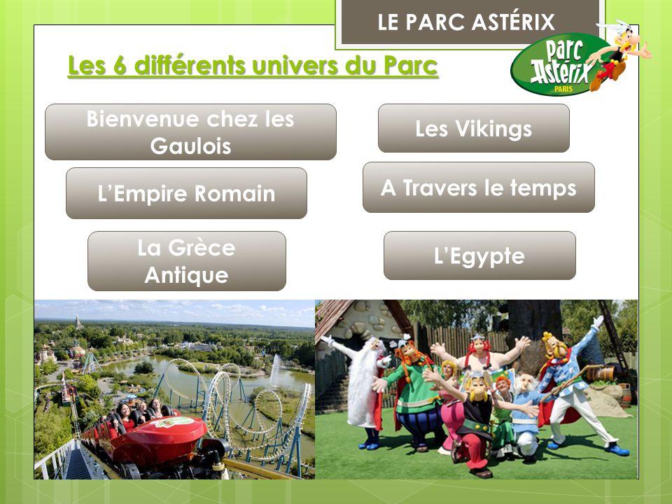 Les 6 différents univers du Parc