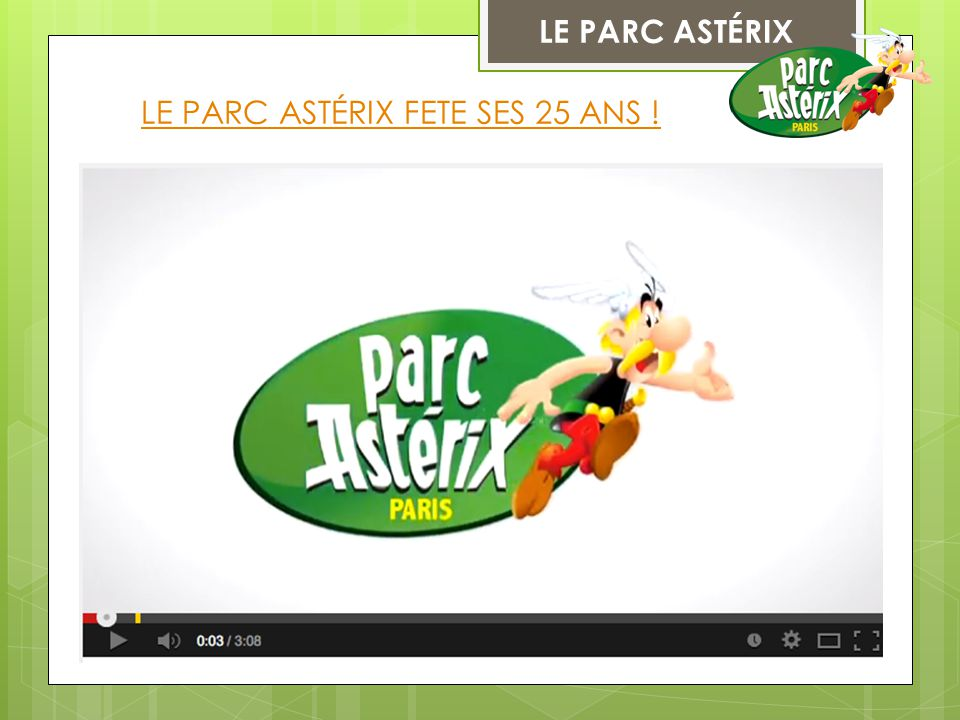 LE PARC ASTÉRIX FETE SES 25 ANS !