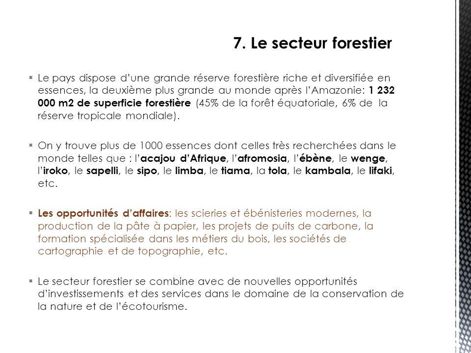 7. Le secteur forestier