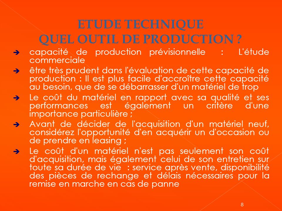 QUEL OUTIL DE PRODUCTION