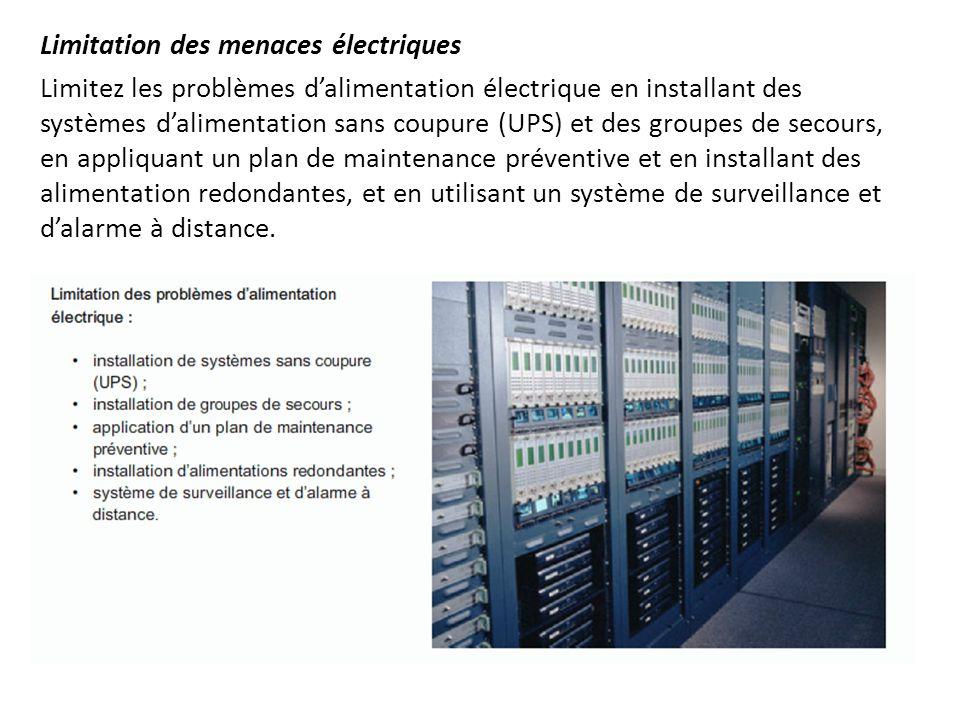 Limitation des menaces électriques