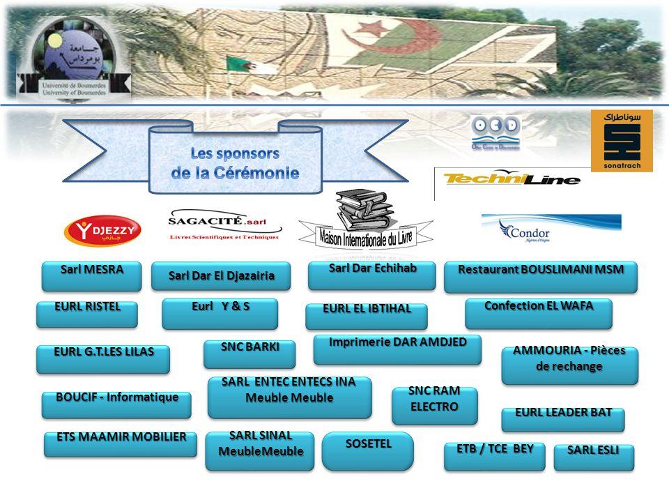 Les sponsors de la Cérémonie Imprimerie DAR AMDJED
