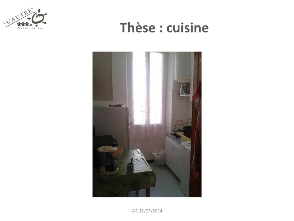 Thèse : cuisine AG 12/03/2014