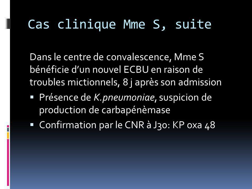 Cas clinique Mme S, suite