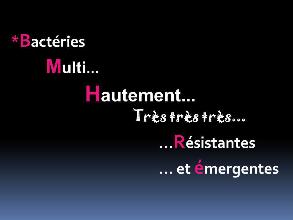 Hautement... Multi... *Bactéries ...Résistantes ... et émergentes