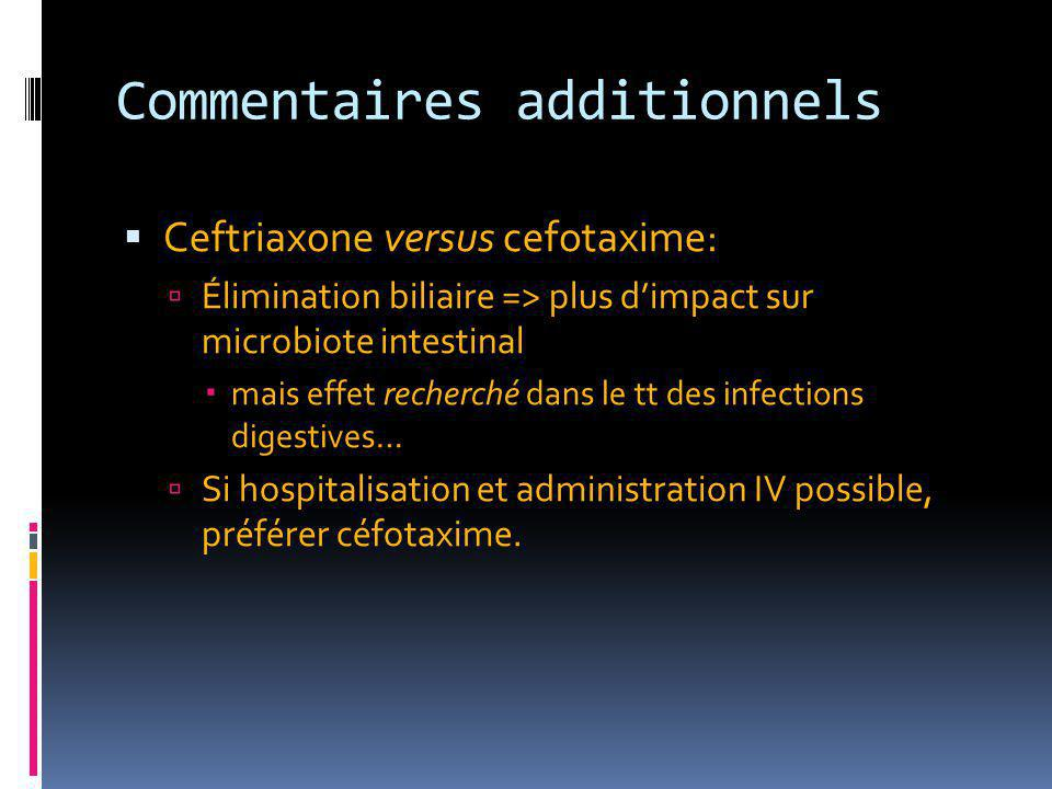 Commentaires additionnels
