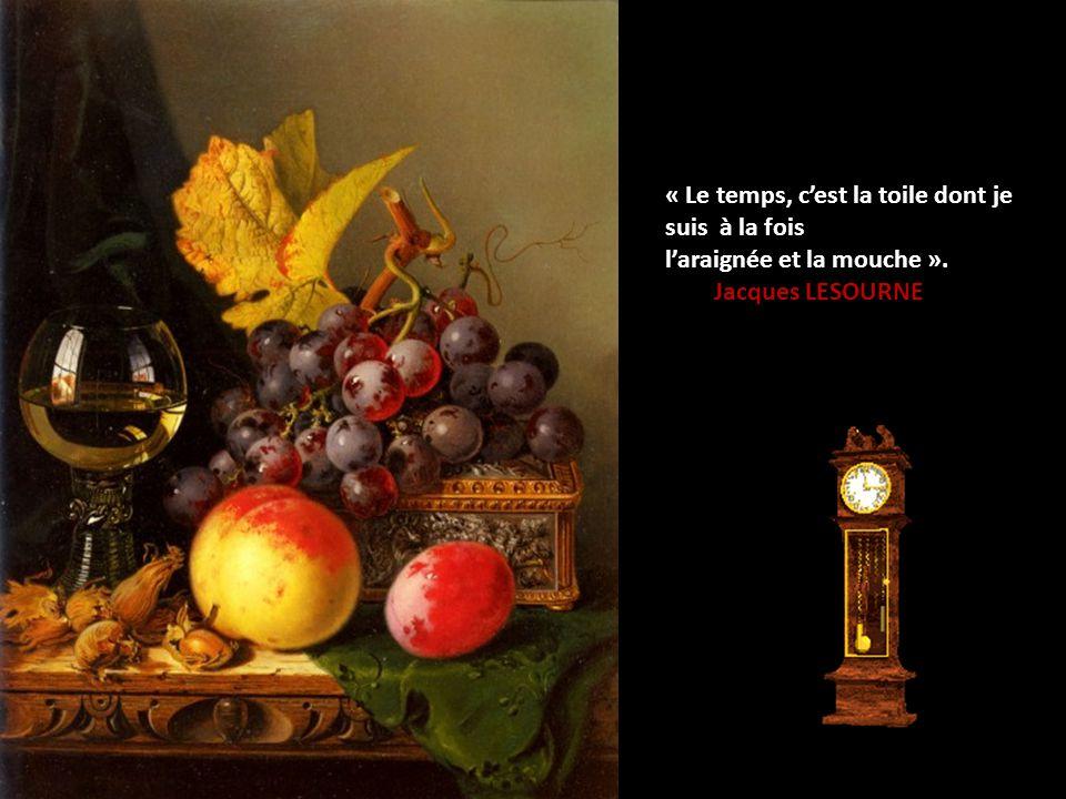 « Le temps, c'est la toile dont je suis à la fois
