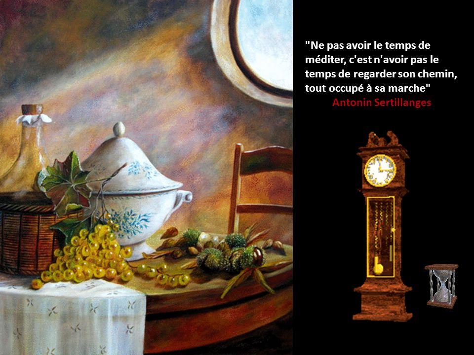 Ne pas avoir le temps de méditer, c est n avoir pas le temps de regarder son chemin, tout occupé à sa marche Antonin Sertillanges