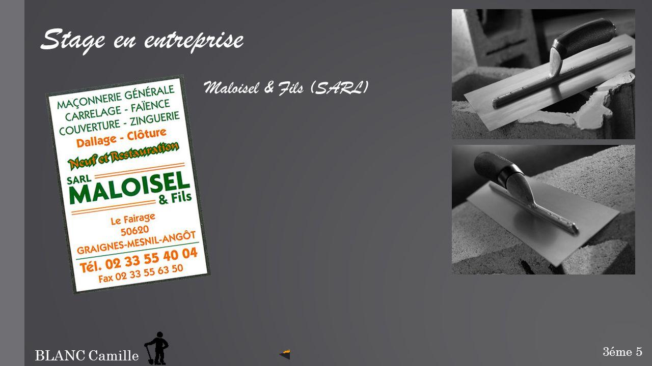 Stage en entreprise Maloisel & Fils (SARL) 3éme 5 BLANC Camille