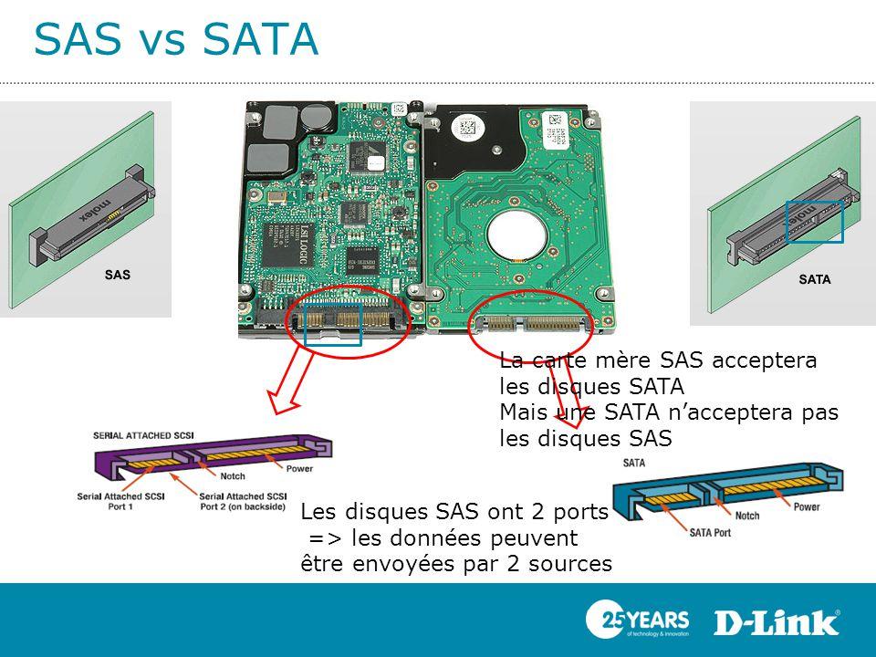 SAS vs SATA La carte mère SAS acceptera les disques SATA