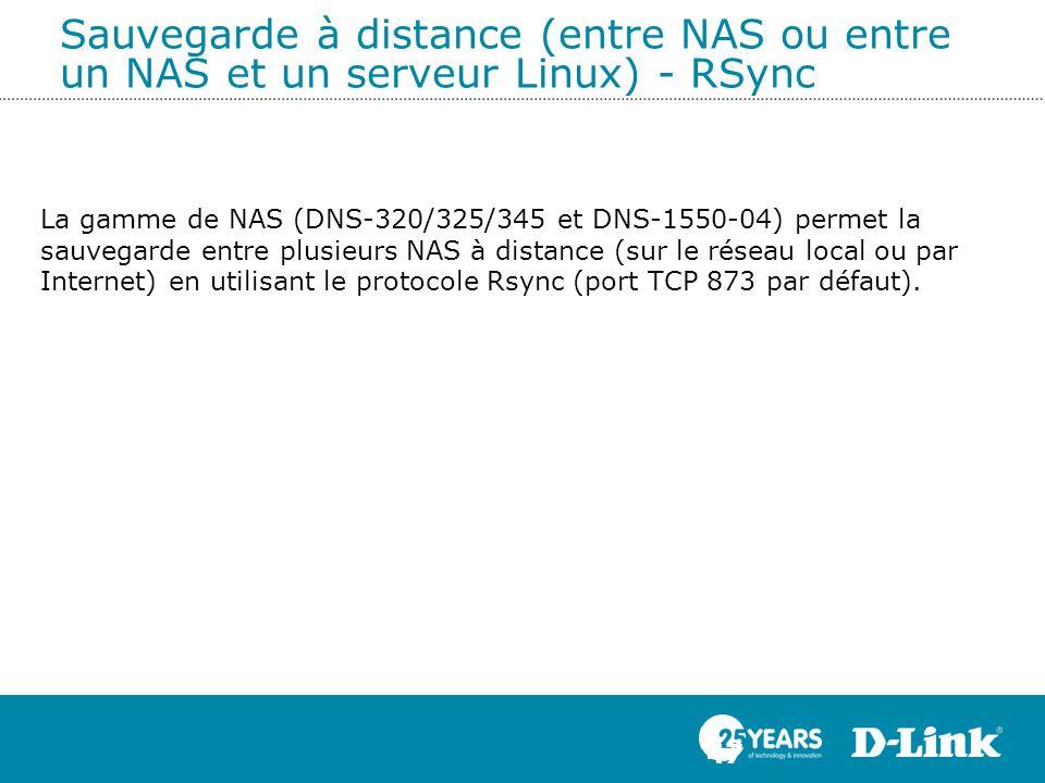 Sauvegarde à distance (entre NAS ou entre un NAS et un serveur Linux) - RSync