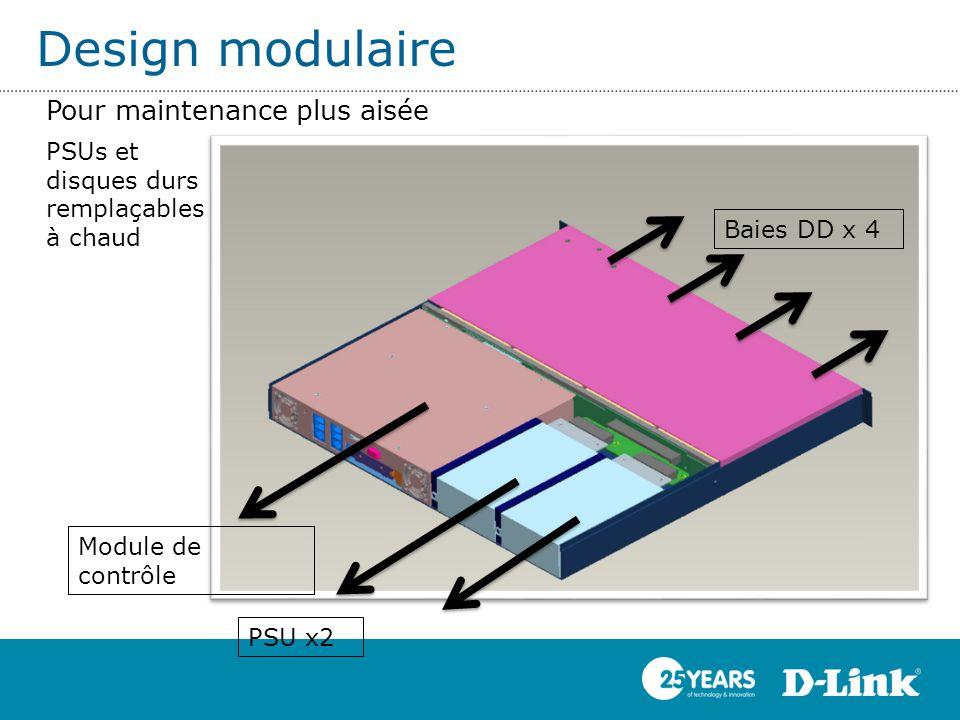 Design modulaire Pour maintenance plus aisée