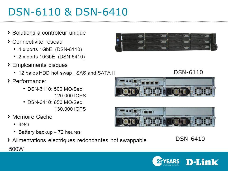 DSN-6110 & DSN-6410 Solutions à controleur unique Connectivité réseau