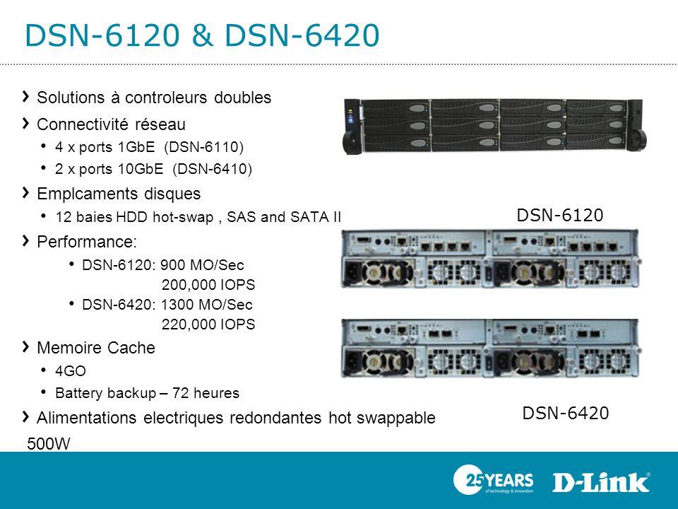 DSN-6120 & DSN-6420 Solutions à controleurs doubles