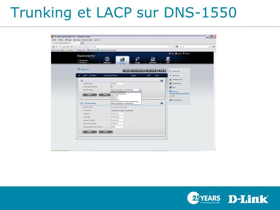 Trunking et LACP sur DNS-1550