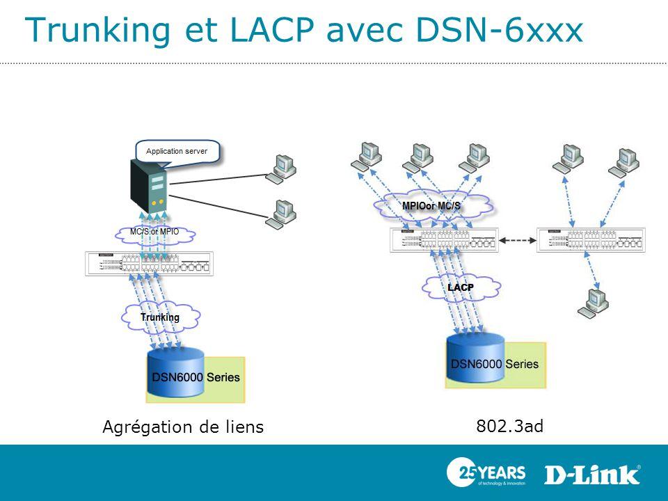 Trunking et LACP avec DSN-6xxx