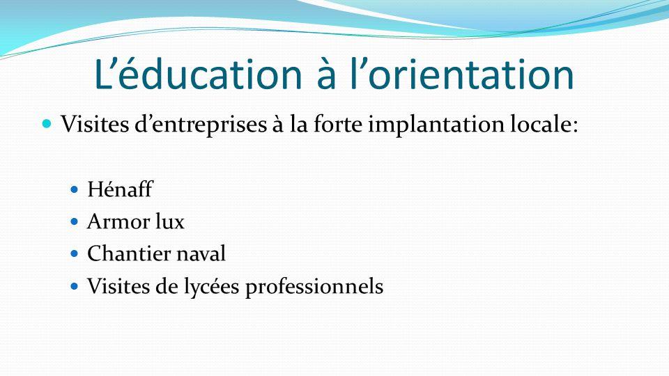 L'éducation à l'orientation