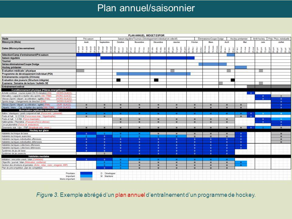 Plan annuel/saisonnier
