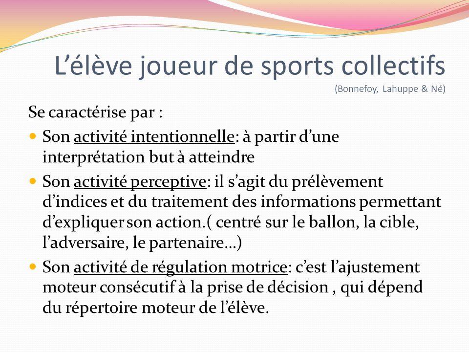 L'élève joueur de sports collectifs (Bonnefoy, Lahuppe & Né)