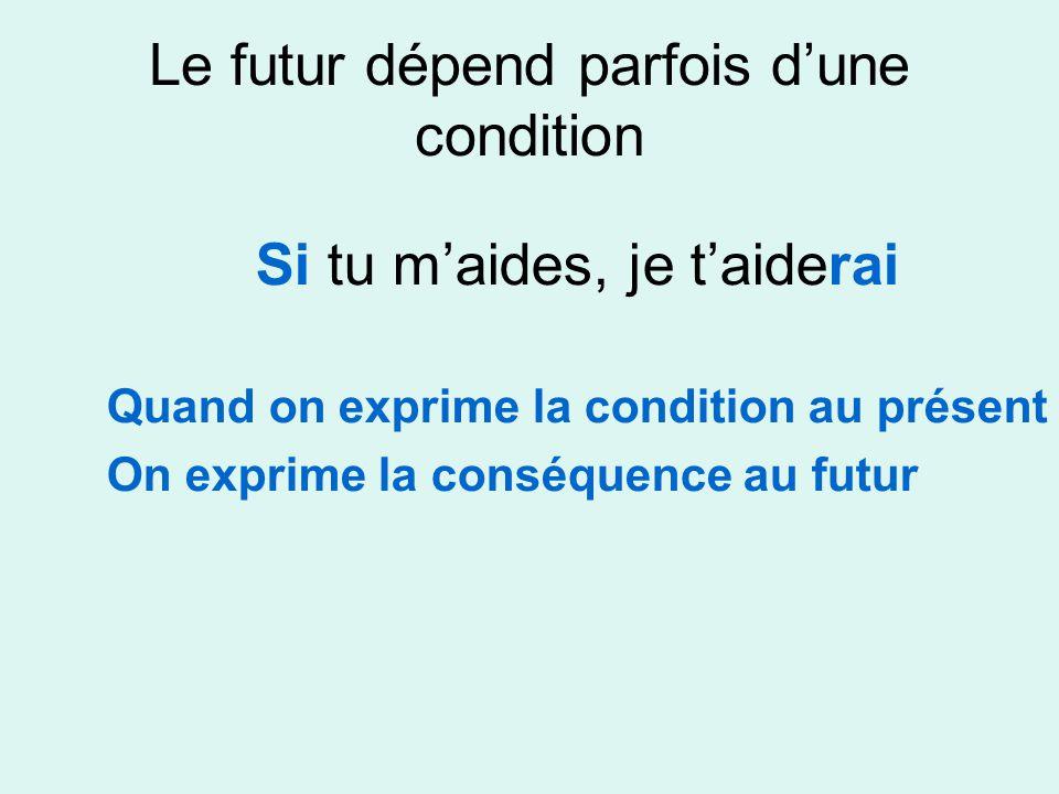 Le futur dépend parfois d'une condition