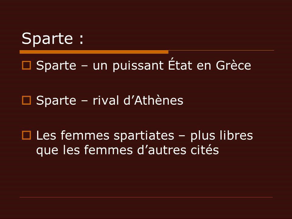 Sparte : Sparte – un puissant État en Grèce Sparte – rival d'Athènes