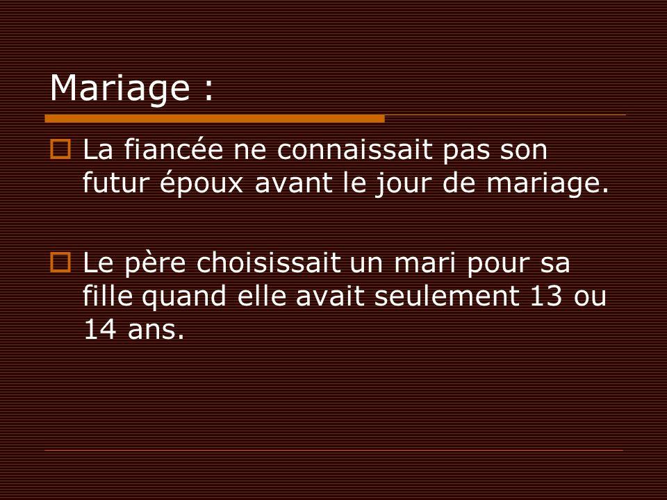 Mariage : La fiancée ne connaissait pas son futur époux avant le jour de mariage.