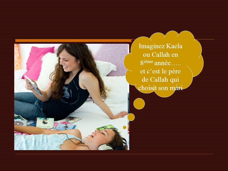 Imaginez Kaela ou Callah en 8ième année…