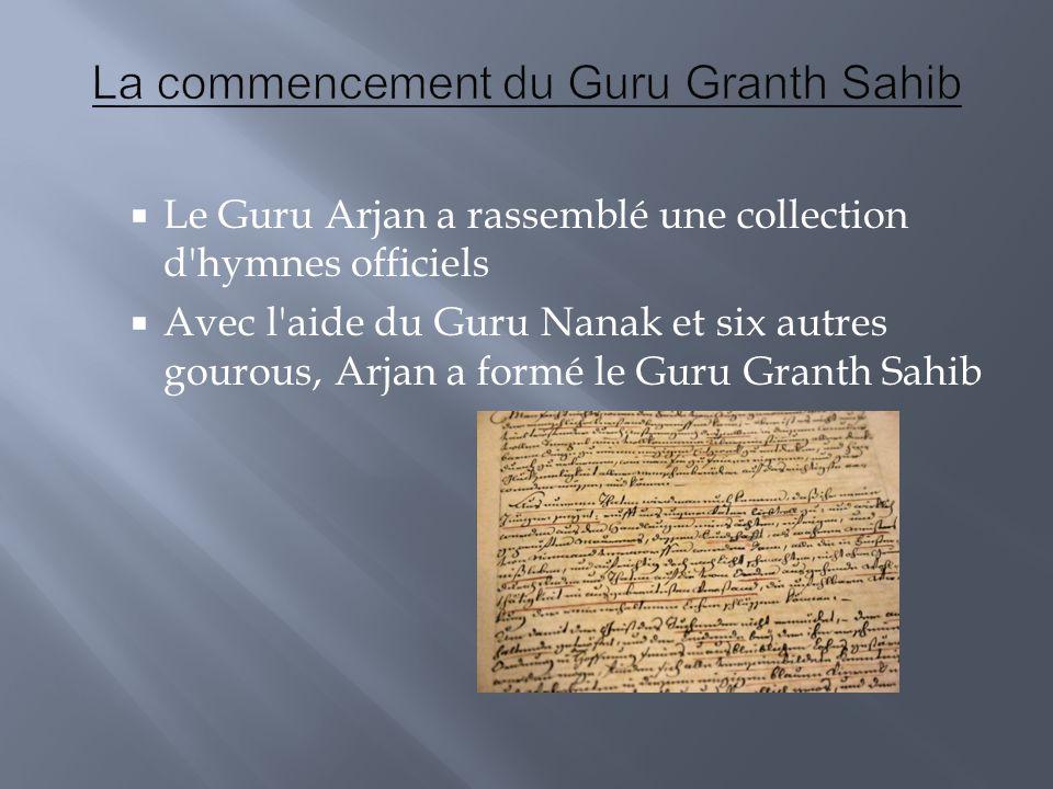La commencement du Guru Granth Sahib