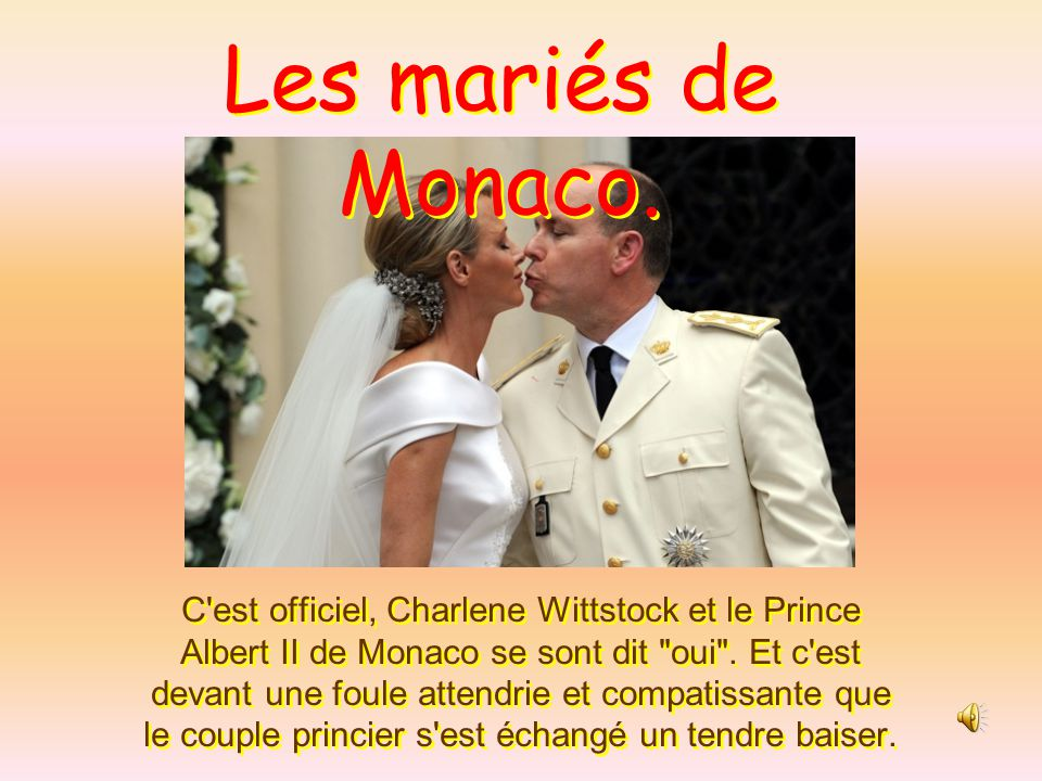 Les mariés de Monaco.