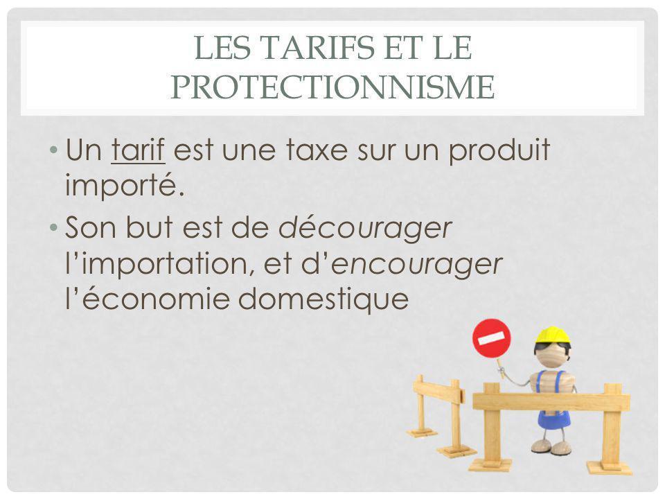 Les tarifs et le protectionnisme