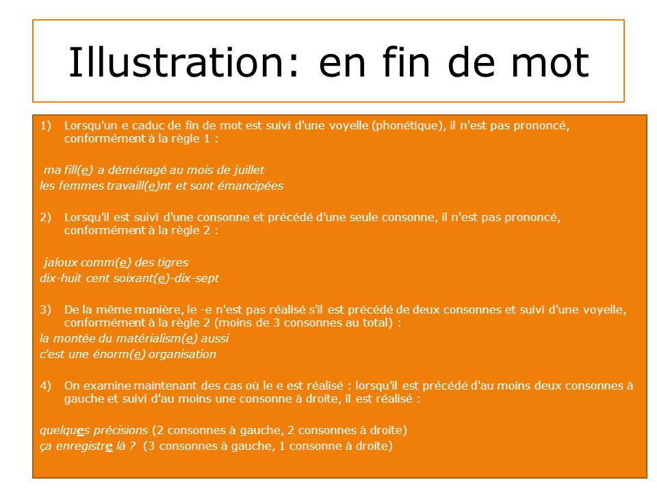 Illustration: en fin de mot